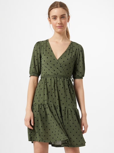 Gina Tricot Kleid 'Tuva' in dunkelgrün / schwarz, Modelansicht
