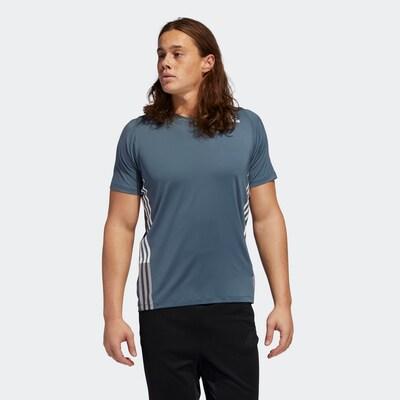 ADIDAS PERFORMANCE Functioneel shirt in de kleur Blauw: Vooraanzicht