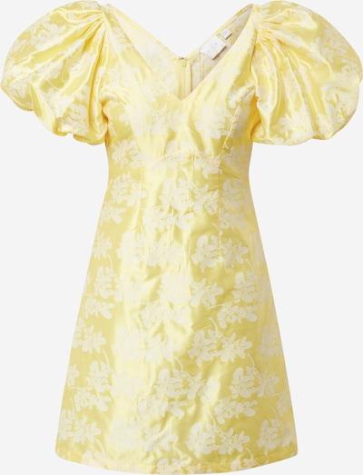 VILA Kleid 'Petia' in zitrone / weiß, Produktansicht