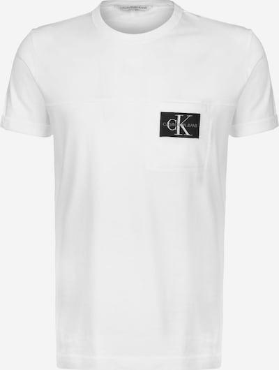 Calvin Klein Jeans Shirt ' Badge Pocket ' in de kleur Wit, Productweergave