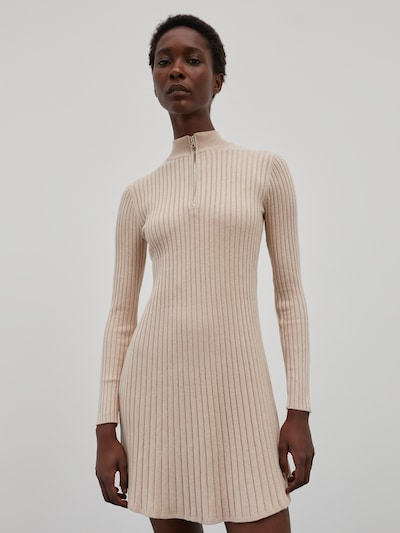 EDITED Šaty 'Karoline' - béžová melírovaná, Model/-ka
