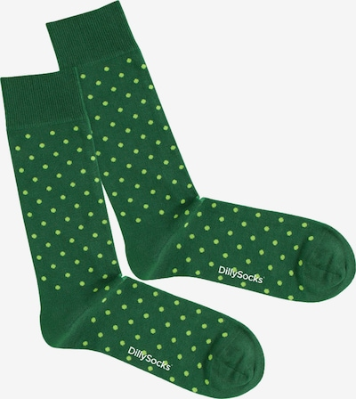Calzino 'Lawn' DillySocks di colore lime / verde scuro, Visualizzazione prodotti