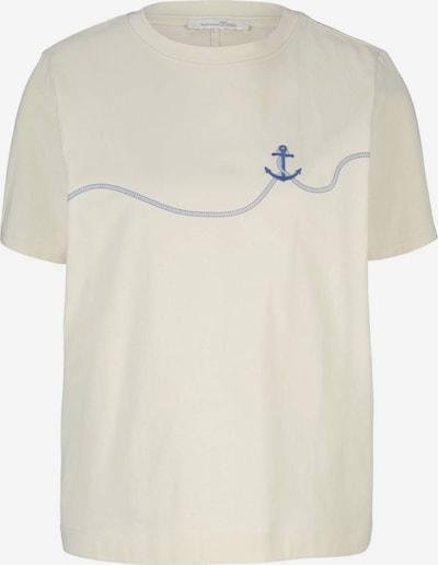 TOM TAILOR DENIM T-Shirt in beige / royalblau, Produktansicht