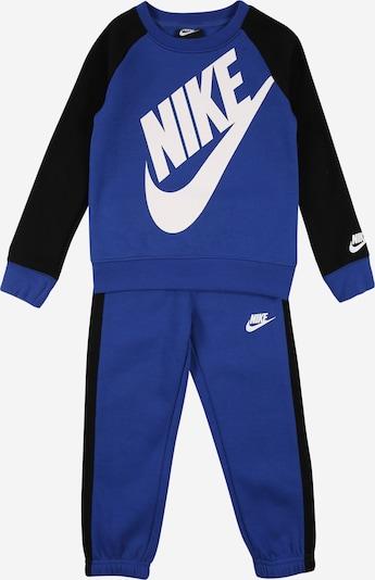 Nike Sportswear Survêtement 'Futura Crew' en bleu / noir / blanc, Vue avec produit