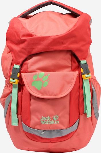 Sportinė kuprinė 'Explorer 16' iš JACK WOLFSKIN , spalva - šviesiai žalia / koralų splava / raudona, Prekių apžvalga