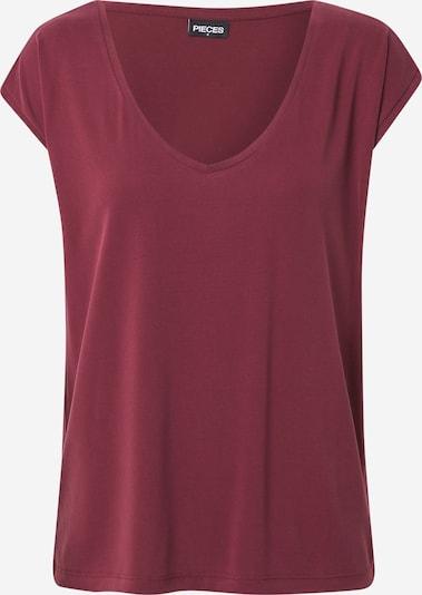 PIECES Tričko 'Kamala' - vínovo červená, Produkt