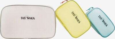 TATONKA Make up tas 'SQZY' in de kleur Blauw / Geel / Lichtlila, Productweergave