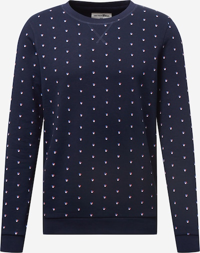 TOM TAILOR DENIM Sweatshirt in navy / weiß, Produktansicht
