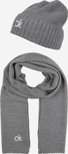 Calvin Klein Mütze in grau / weiß, Produktansicht