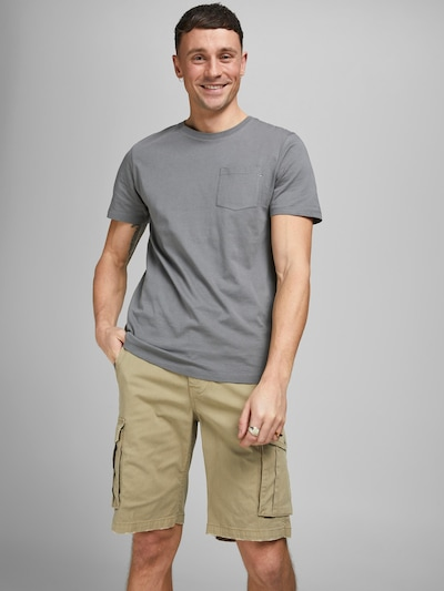 JACK & JONES Pantalon cargo 'Zack' en roseau, Vue avec modèle