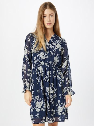 VERO MODA Robe-chemise 'Mia' en bleu marine / blanc, Vue avec modèle
