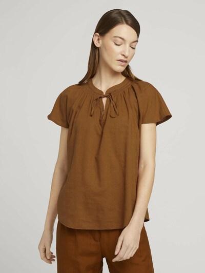 Bluză TOM TAILOR pe maro caramel, Vizualizare model