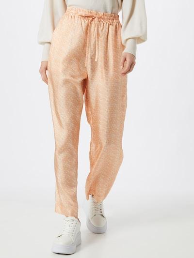 NUÉ NOTES Pantalon 'CAROLA' en beige / orange pastel / rose, Vue avec modèle