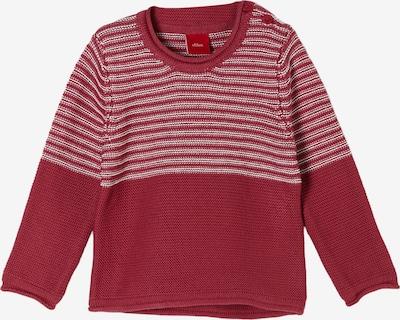 s.Oliver Pullover in rot / weiß, Produktansicht