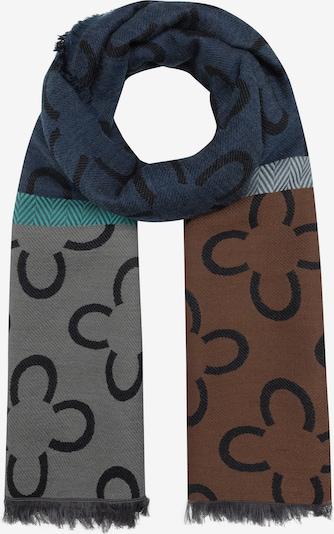 CODELLO Schal in dunkelblau / braun / grau, Produktansicht