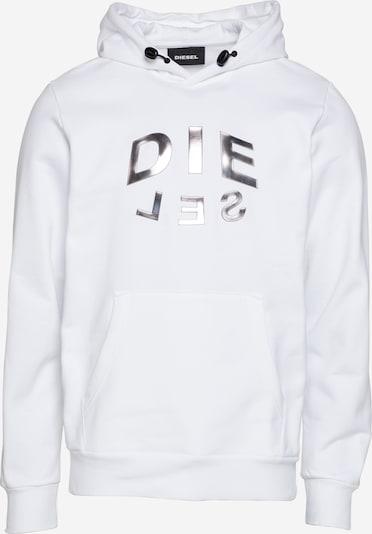 DIESEL Mikina - stříbrná / bílá, Produkt