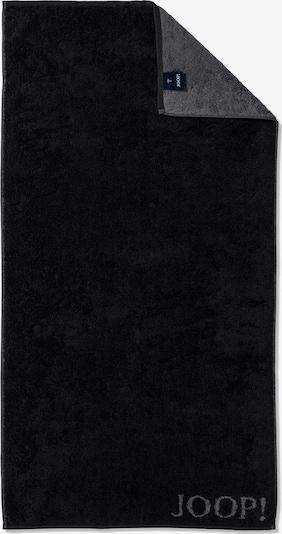 JOOP! Duschtuch 'Doubleface' in dunkelgrau / schwarz, Produktansicht