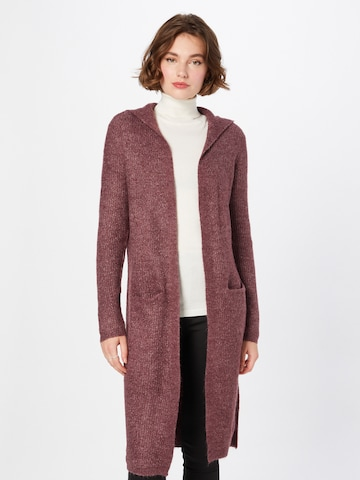 JDY Knitted Coat 'Drea' in Red