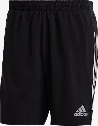 ADIDAS PERFORMANCE Sportbroek 'Own The Run' in de kleur Zwart / Zilver / Wit, Productweergave
