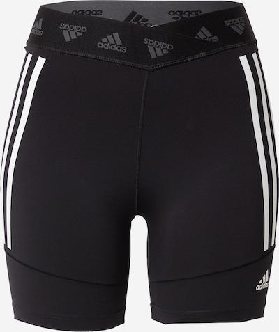 ADIDAS PERFORMANCE Pantalon de sport en noir / blanc, Vue avec produit