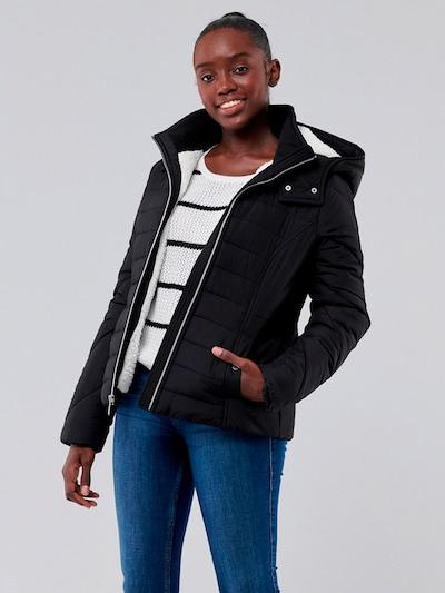 HOLLISTER Jacke in schwarz: Frontalansicht