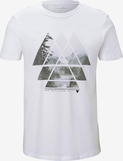 TOM TAILOR DENIM Shirt in de kleur Grijs / Wit, Productweergave