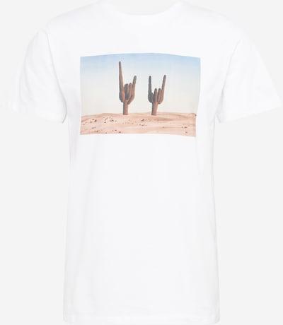 Tricou 'Stockholm Cactus Sign' DEDICATED. pe albastru porumbel / albastru deschis / portocaliu pastel / alb, Vizualizare produs
