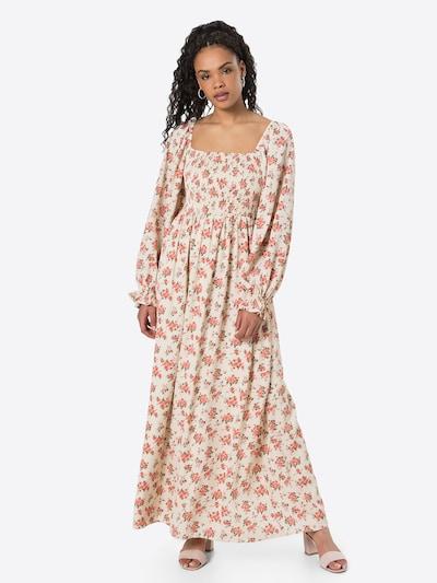 Missguided Kleid in beige / grün / rosa, Modelansicht