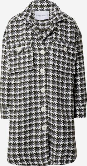 Karo Kauer Преходно палто 'Willow' в сиво / тъмнозелено / бяло, Преглед на продукта