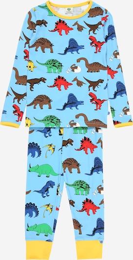 Småfolk Pižama 'Dino' | marine / svetlo modra / rjava / neonsko rumena / zelena barva, Prikaz izdelka