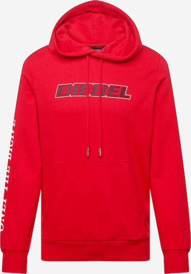 DIESEL Sweatshirt 'GIRK' in de kleur Rood / Zwart / Wit, Productweergave