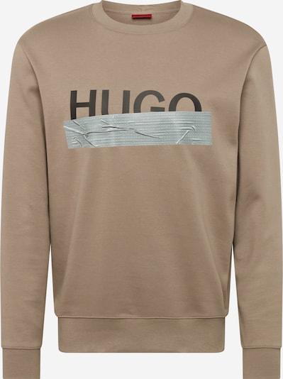 HUGO Sweat-shirt 'Dicago' en noisette / gris / noir, Vue avec produit