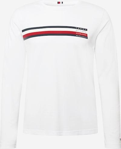 TOMMY HILFIGER Shirt en rot / weiß, Vue avec produit