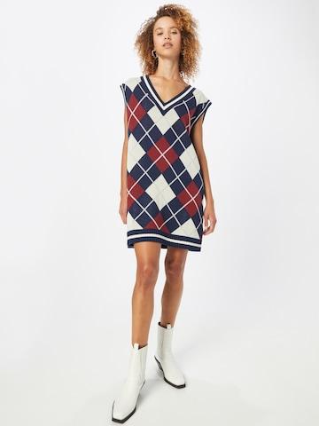 WEEKDAY Gebreide jurk in Blauw