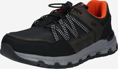 TOM TAILOR Čevlji na vezalke | kaki / črna / bela barva, Prikaz izdelka