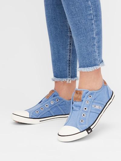 Sneaker bassa MUSTANG di colore blu chiaro: Vista frontale