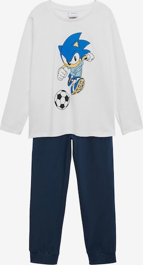 Pijamale MANGO KIDS pe bleumarin / albastru regal / albastru deschis / galben deschis / alb murdar, Vizualizare produs