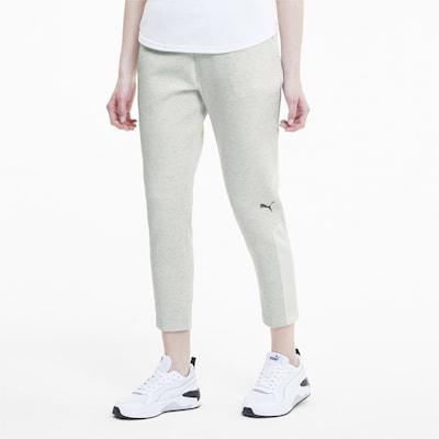 PUMA Damen Sweatpants in weiß: Frontalansicht