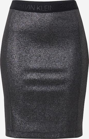 Calvin Klein Jeans Suknja 'Milano' u srebrno siva / crna, Pregled proizvoda