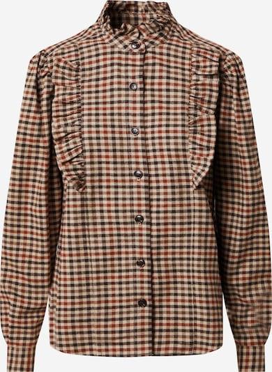 Designers Remix Блуза 'Alfie' в кафяво / ръждиво кафяво / светлокафяво, Преглед на продукта