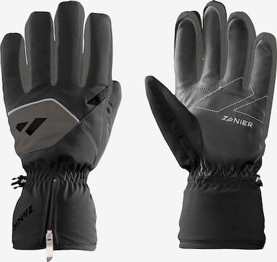 Zanier Handschuhe in grau / dunkelgrau / schwarz / weiß, Produktansicht