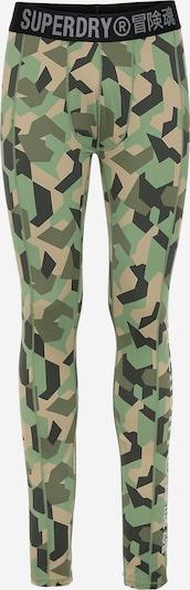 Superdry Športne spodnjice | rjava / zelena / kaki / temno zelena barva, Prikaz izdelka