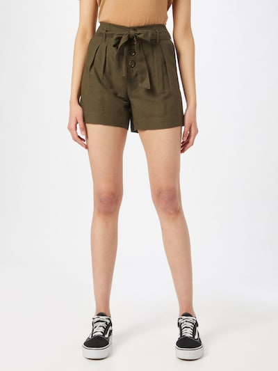 ONLY Pleat-front trousers in Khaki, View model
