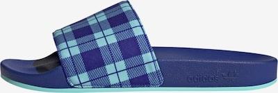 ADIDAS ORIGINALS Pantolette 'Adilette' in hellblau / dunkelblau, Produktansicht