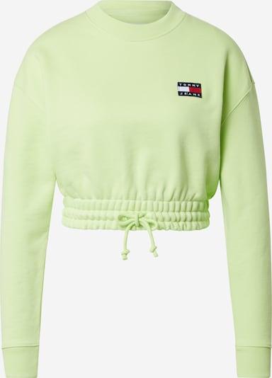 Tommy Jeans Sweat-shirt en citron vert, Vue avec produit