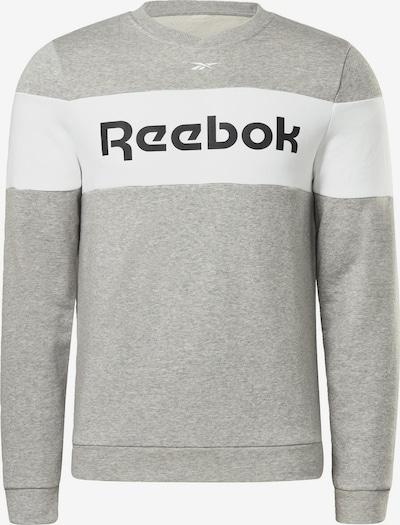 Reebok Sport Sportsweatshirt in de kleur Grijs gemêleerd / Zwart / Wit, Productweergave