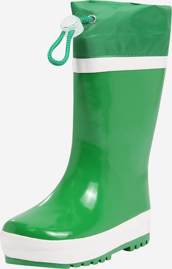 PLAYSHOES Rubber boot in green / white, Item view