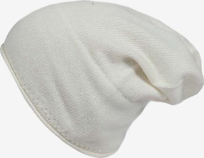 Zwillingsherz Mütze in wollweiß: Frontalansicht