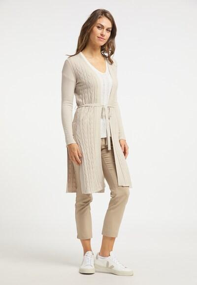 Usha Cardigan in beige, Modelansicht