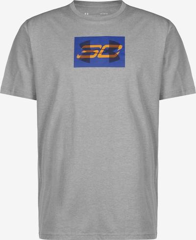 UNDER ARMOUR Basketballshirt in blau / anthrazit / graumeliert / orange, Produktansicht